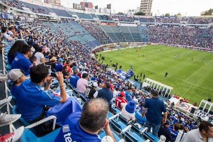 El 21 de abril del 2018 fue el último partido oficial de la Liga BBVA MX en el Estadio Azul con los Celestes como locales (Foto: Diego Simón Sánchez/ Cuartoscuro)