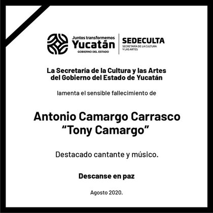 La Secretaría de la Cultura y las Artes de Yucatán difundió la noticia la noche de este miércoles (Foto: Twitter)