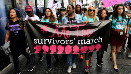 Movimiento #MeToo en Estados Unidos, contra el abuso sexual (AFP)