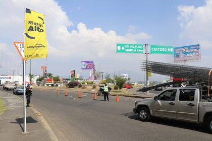 Colocan banderas de riesgo en Michoacán Foto: Tw/@michangoonga