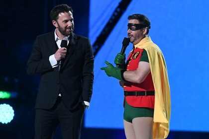 Ben Affleck y Jimmy Kimmel (AFP)
