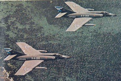 Super Etendard en 1982  Guerra de Malvinas