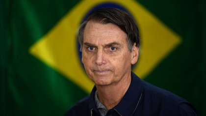 Jair Bolsonaro, candidato presidencial del Partido Social Liberal de Brasil (Photo by Mauro PIMENTEL / AFP)