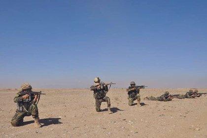 Militares del Ejército afgano. MINISTERIO DE DEFENSA DE AFGANISTÁN