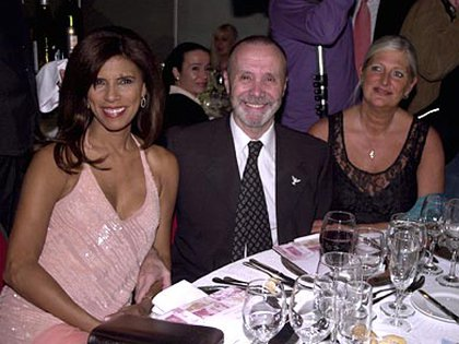 Junto a Anamá Ferreira y su esposa, Lucía