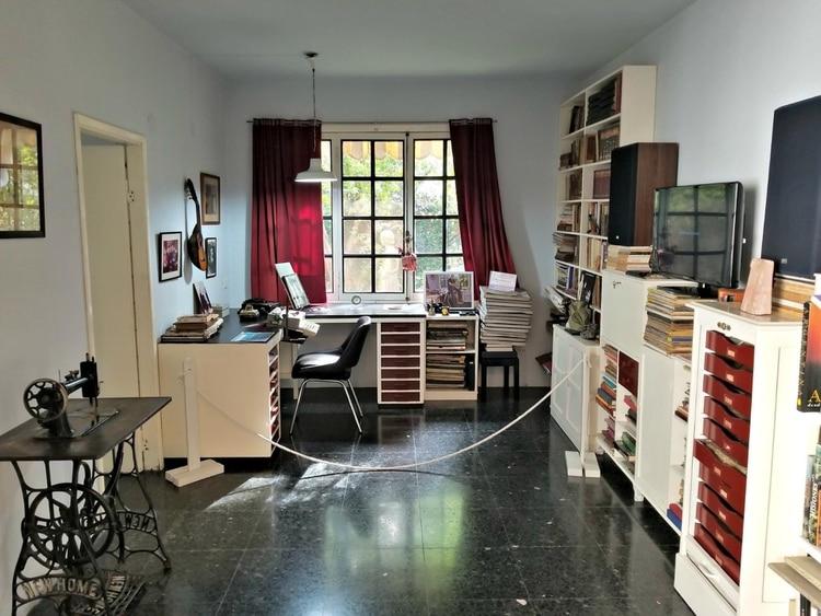 Interior de la casa de Santos Lugares, hoy Casa Museo Ernesto Sabato
