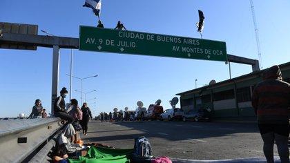 """""""Solo queremos laburar"""", declaró Damián Ávila, uno de los referentes de la protesta."""