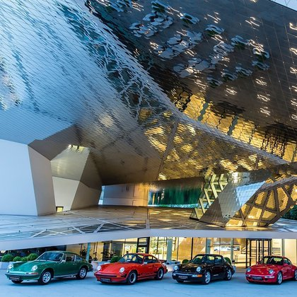 Los 911, estrellas del Porsche Museum.