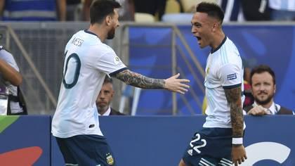 Lautaro Martinez y Lionel Messi han jugado juntos en la Copa América (AFP)