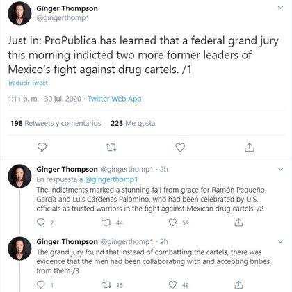 Ginger Thompson reporta acusación de Gran Jurado