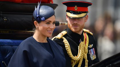 Meghan Markle reapareció en público en el Trooping the Colour AFP)