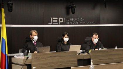 Magistrados de la Jurisdicción Especial para la Paz en Bogotá.
