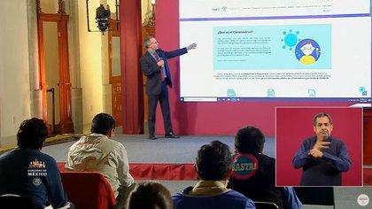 López–Gatell Ramírez, subsecretario de Prevención y Promoción de la Salud (Captura de pantalla: Gobierno de México)