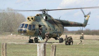 El centro de mantenimiento trabajará sobre los Mil Mi-17 que operan en la región, versión de exportación del Mil Mi-8 como el que figura en la foto