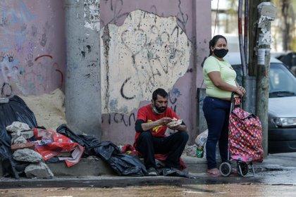 Imagen en un barrio popular de la Ciudad de Buenos Aires. Un cuadro agudizado por la cuarentena.