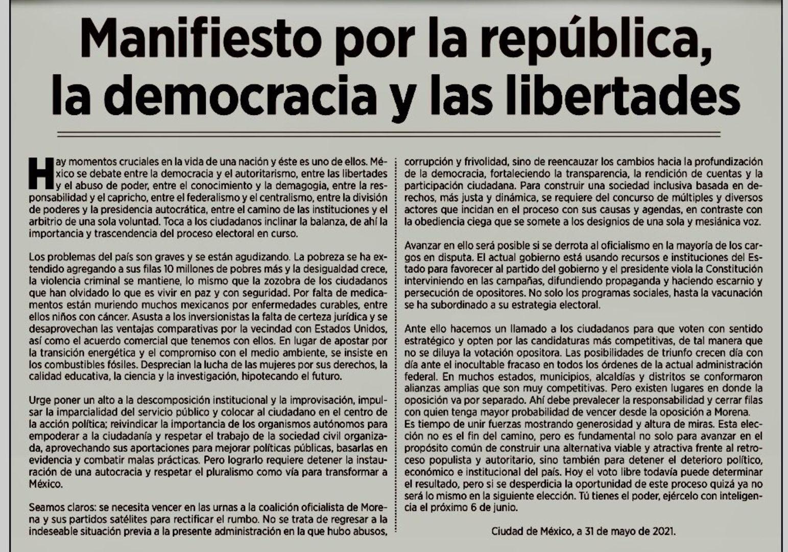 Desplegado contra Morena de cara a las elecciones del 6 de junio del 2021 (Foto: Twitter / @malvafg)