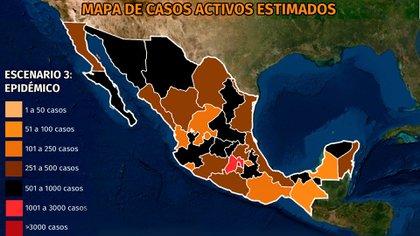 Mapa del coronavirus en México 14 de abril: CDMX concentra la mayoría de los decesos