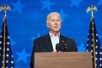Joe Biden fue anunciado como presidente electo este sábado (Foto: REUTERS / Kevin Lamarque)