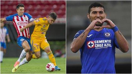 Cruz Azul calificó a las semifinales y Tigres superó a las Chivas (Collage: Twitter/ @TigresOficial/ @CruzAzulCD)