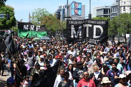 Una multitud se movilizó por el centro porteño (Maximiliano Luna)