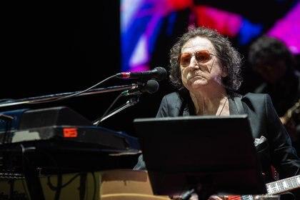 Charly García en el recital que brindó en el Luna Park, a principios de diciembre (Foto: Franco Fafasuli)