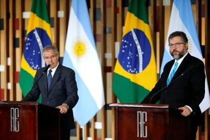 Solá y su par brasileño, Araújo
