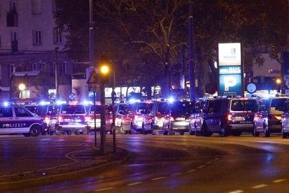 Autos de policía en el centro de Viena (Foto: REUTERS/Lisi Niesner)