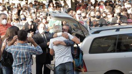 La llegada del féretro a la Iglesia San Francisco de Asis