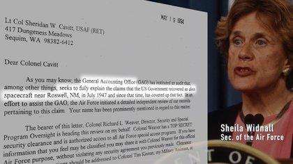 Sheila Widnall, secretaria de la Fuerza Aérea (The Phenomenom)