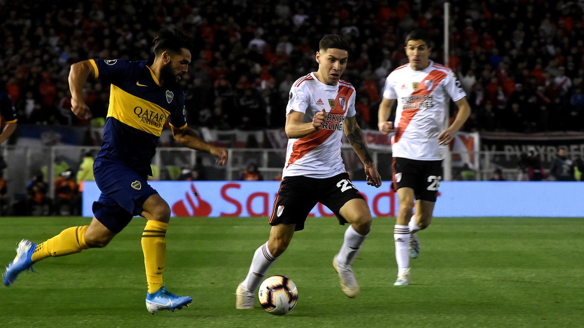 Boca y River se volverán a cruzar por las semifinales de la Libertadores tras el 2-0 del equipo de Gallardo en la ida (Nicolás Stulberg)