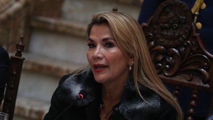En la imagen, la presidenta interina de Bolivia, Jeanine Áñez. EFE/Rodrigo Sura/Archivo