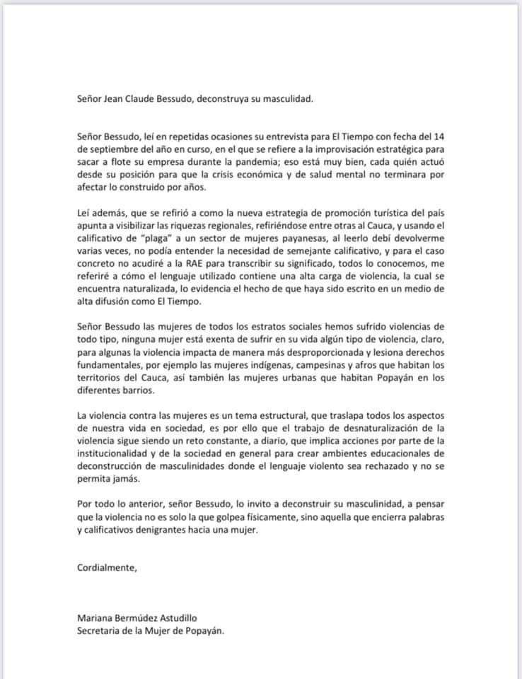 Polémica por comentarios del presidente de Aviatur-Colombia