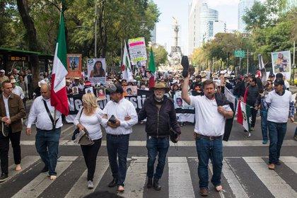 Los LeBarón marcharon para protestar por la falta de justicia y contra la violencia en el país (Foto: Moisés Pablo/ Cuartoscuro)