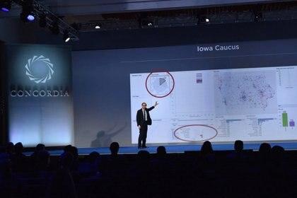 Alexander Nix, jefe ejecutivo de Cambridge Analytica, en una conferencia en 2016 (Bryan Bedder/Getty Images/Concordia Summit)