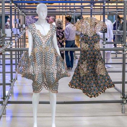 Prendas de la colección Éter de Gabriela Grajales, presentadas el Bilbao International Art & Fashion, donde se llevó el premio a Best outfit design. Foto: Txetxu Berruezo Zarate.