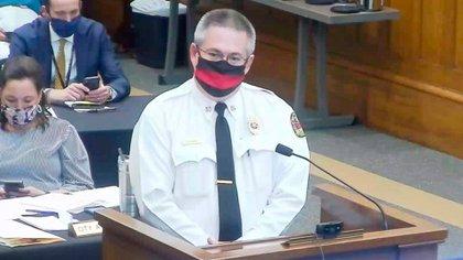 Randy Smith, jefe de bomberos de Tuscaloosa