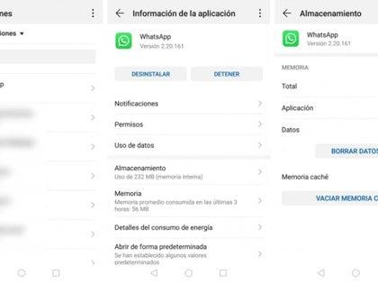 Así es como se puede borrar la memoria Caché en los dispositivos Android. (Foto: Captura de pantalla)