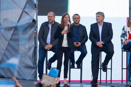 Raverta en el cierre de la campaña presidencial de Alberto Fernández y Cristina Kirchner en Mar del Plata