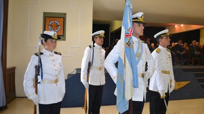 Sofía fue elegida escolta de la Escuela de Aviación Militar