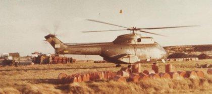Los helicópteros del Ejército en las Islas