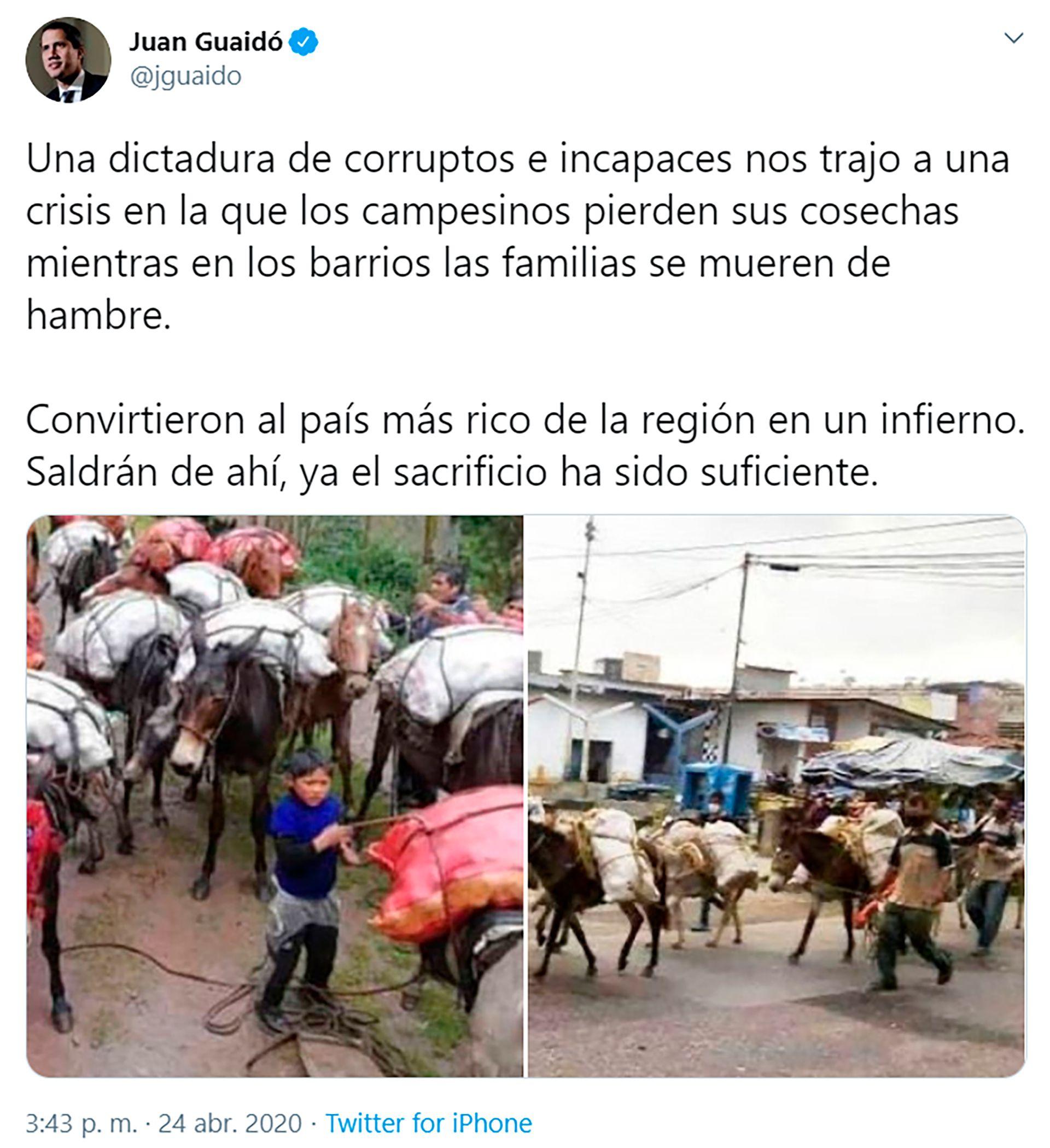 Juan Guaidó siguió atentamente la situación en distintos lugares del país