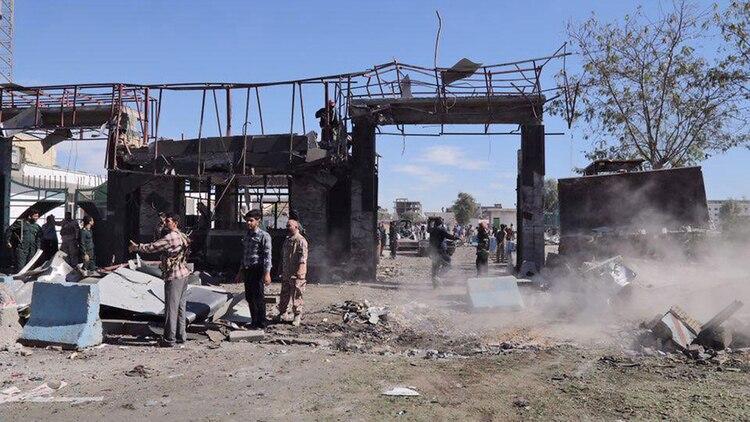 En el ataque hubo al menos cuatro muertos y numerosos heridos (AFP)