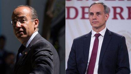 Felipe Calderón señaló al subsecretario de Prevención y Promoción de la Salud, Hugo López-Gatell. (Foto: Cuartoscuro)