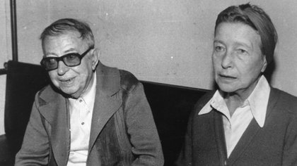 Sartre y Simone de Beauvoir (Getty Images)