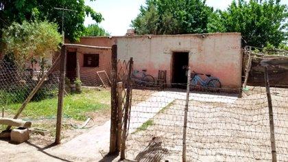 La vivienda de la familia Tejada en la localidad de La Cañada, dentro del departamento de Albardón (Gentileza Diario Huarpe)