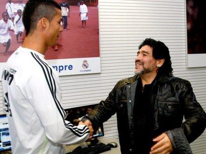 """Maradona dijo que Cristiano lo hizo """"soñar"""" y el portugués le respondió"""