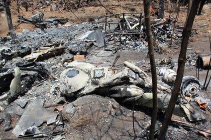 Los hechos en Villa Purificación, Jalisco, cuando el CJNG derribó un helicóptero  (FOTO: CUARTOSCURO)