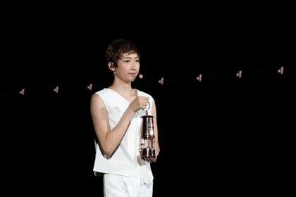 Rikako Ikee, la nadadora japonesa que se recuperó de una leucemia y fue la protagonista del evento a falta de 1 año para los Juegos Olímpicos (Du Xiaoyi/Pool via REUTERS)