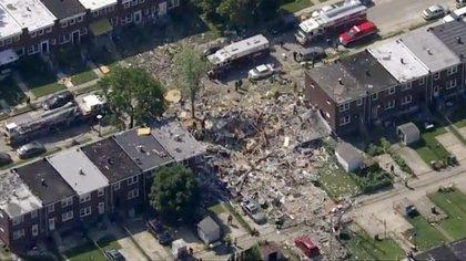 Imagen aérea de la zona (WJLA-TV via AP)