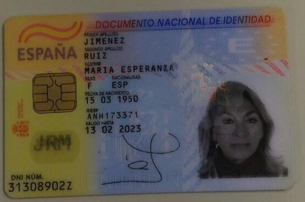 El documento de la víctima (foto: Globo)